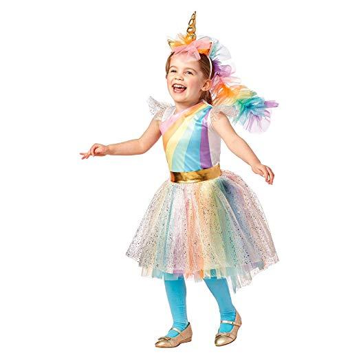 Amazon Com  Toddler Girls Hyde & Eek Rainbow Unicorn Costume With