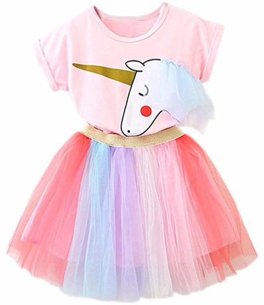 Amazon Com  Ttyaovo Little Girls Unicorn Dress, 2pcs Unicorn