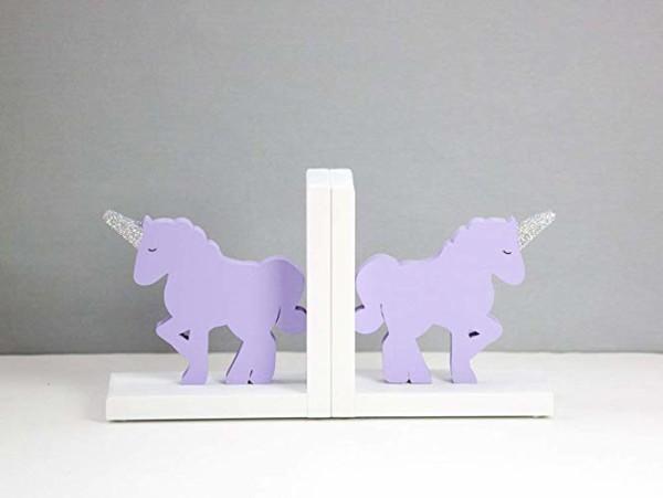 Amazon Com  Unicorn Bookends, Purple And White, Kids Book Ends