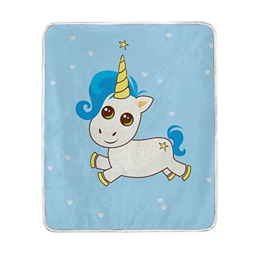 Amazon Com  Unicorn In Love Home Decor Blanket Soft Durable Warm