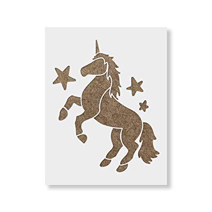 Amazon Com  Unicorn Stencil Template