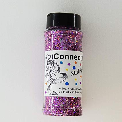 Amazon Com  Unicorn, Stubby Glitter 1 16, 4oz Shaker Bottle