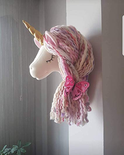 Amazon Com  Unicorn Wall Mounted Handmade Head Unicorn Wall