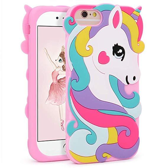 Amazon Com  Vivid Unicorn Case For Iphone 8 7 6 6s 4 7 ,3d Cartoon