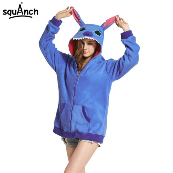 Animal Hoodie Adult Women Men Polar Fleece Sweatshirt Street Wear