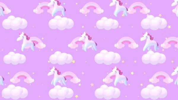 Animated Cartoon Pink Unicorn Wallpaper  Stock Footage Video