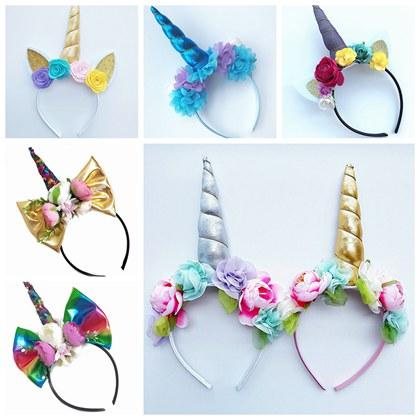 Baby Unicorn Hair Accessories Girls Cat Ears Headbands Artificial