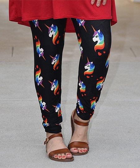 Beary Basics Black Unicorn Leggings