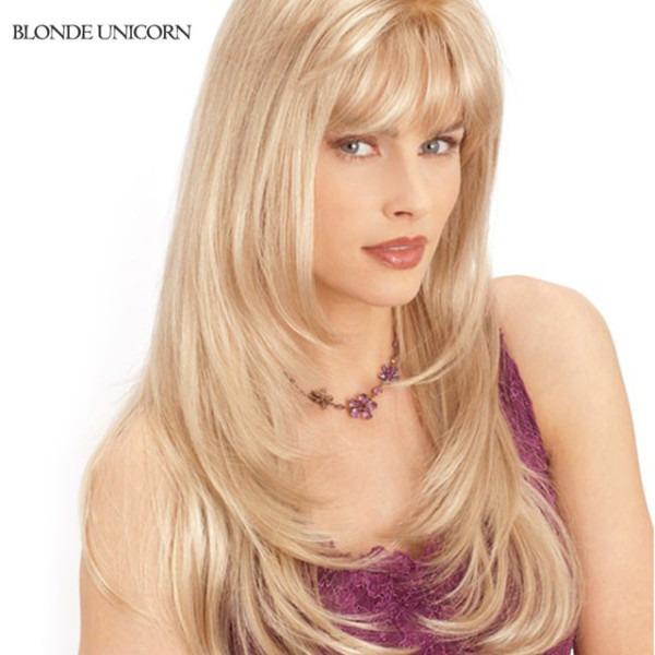 Blonde Unicorn Wig Elegant Long Human Hair Wigs For Women Rare
