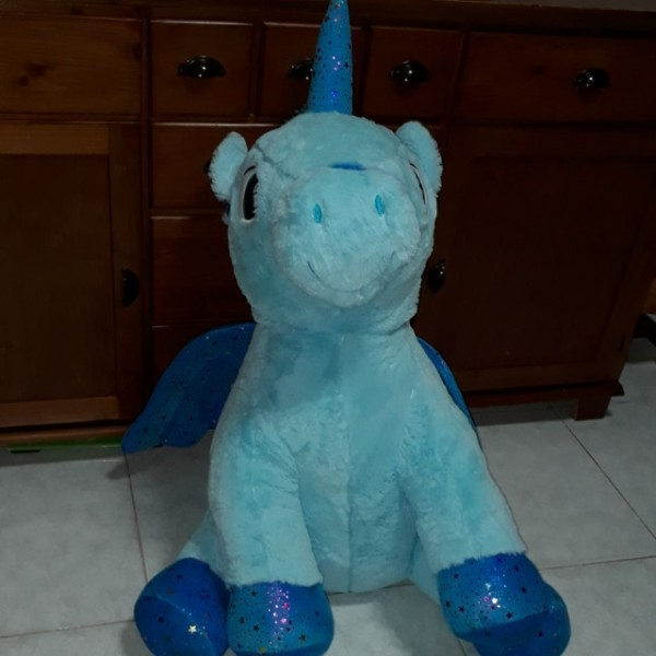 Blue Unicorn Soft Toy, Toys & Games, Bricks & Figurines On Carousell