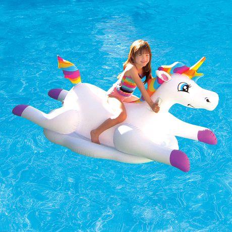 Blue Wave Cloud Rider Rainbow Unicorn Inflatable Ride