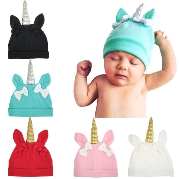 Bnaturalwell Unicorn Hat Kids Baby Soft Cotton Beanie Girl Boy