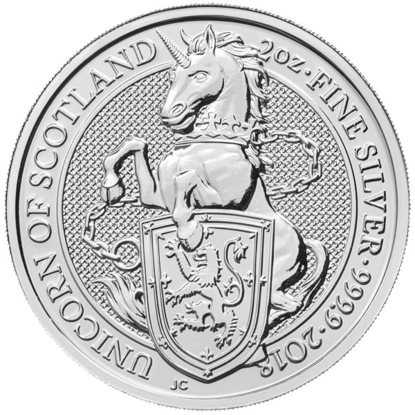 Buy 2 Oz British Beast Silver Coins [the Unicorn]