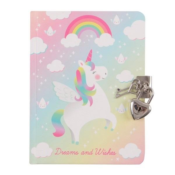 Children's Lockable Diary – Rainbow Unicorn, Rainbow Unicorn Dairy