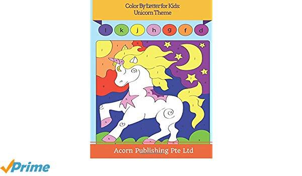 Color By Letter For Kids  Unicorn Theme  Acorn Publishing Pte Ltd