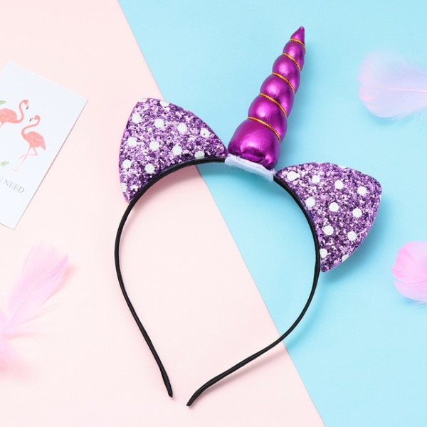 Colorful Unicorn Hair Accessories For Kids Girls Glitter Laser