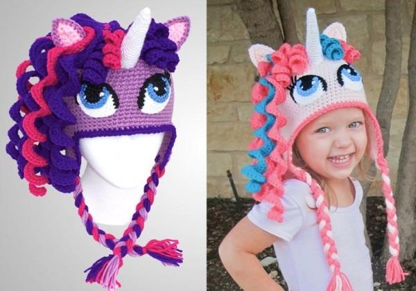 Crochet Unicorn Hat Pattern  Cute Pony Beanie Downloadable