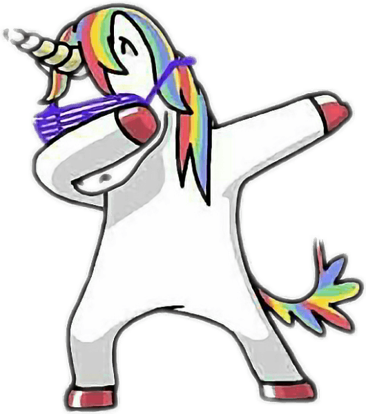 How To Draw A Dabbing Unicorn