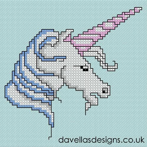 Davella's Designs  Free Unicorn Cross Stitch Pattern  Crossstitch
