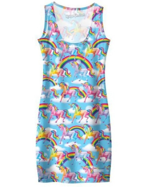 Dress, Lisa Frank, Unicorn, T