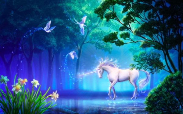 Fantasy, Unicorn, Horse, Tree, Magic, Art, Flower Wallpapers Hd