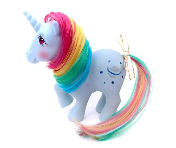 G1 My Little Pony Moonstone Rainbow Unicorn Ponies Vintage