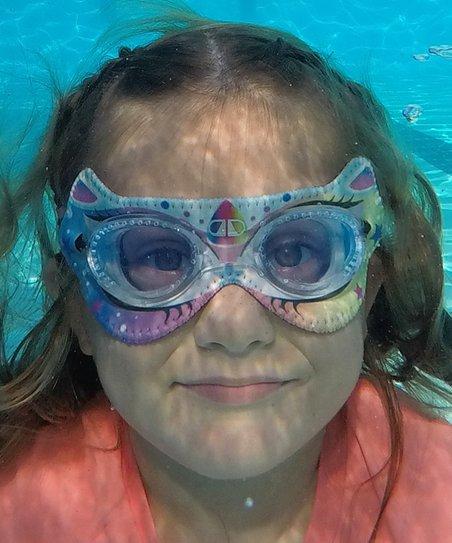 Giggly Goggles Blue Unicorn Swim Goggles