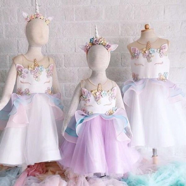 Girl Dress Unicorn Princess Dress