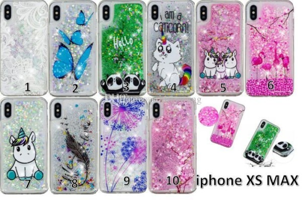 Glitter Bling Unicorn Cat Liquid Case For Iphone 5se 6 Plus 7 8 Xr