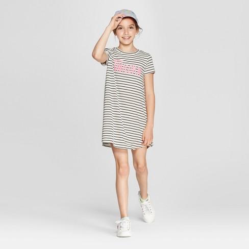 Grayson Social Girls' 'part Unicorn' Striped T