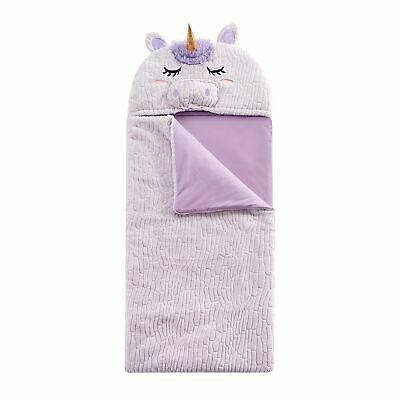Heritage Kids Unicorn Sleeping Bag Purple 26x60