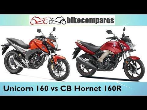 Honda Cb Hornet 160r Vs Unicorn 160 Comparison Review