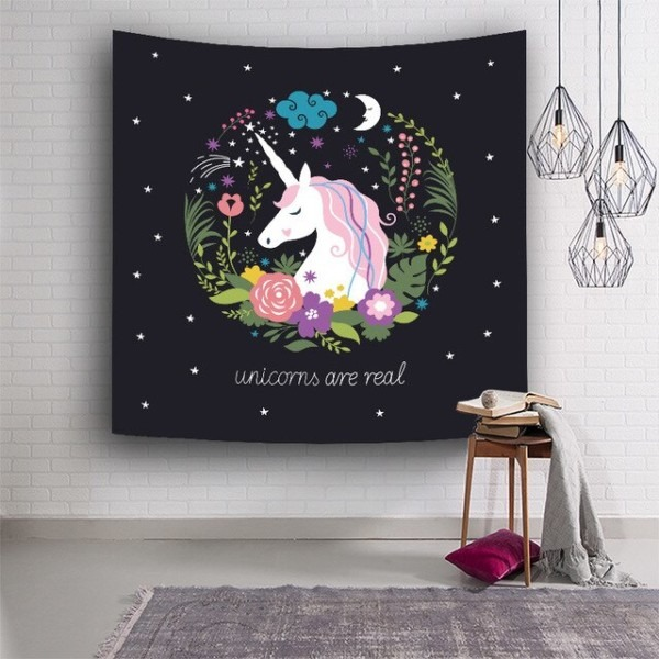Hot Sale Unicorn Tapestry Indian Mandala Tapestry Polyester Wall