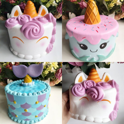 Hot Sell Unicorn Mermaid Cake Slow Rising Scented Squishy Squeeze