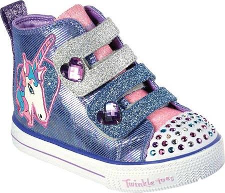 Infant Toddler Girls Skechers Twinkle Toes Shuffle Lite Unicorn