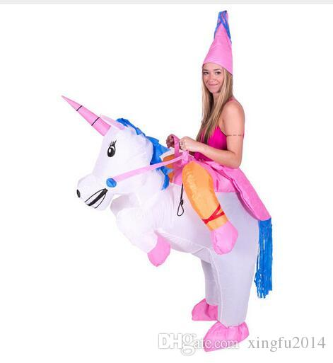 Inflatable Unicorn Costumes Carnaval Princess Outfit Purim Party