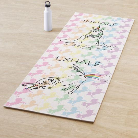 Inhale Exhale Yoga   Meditating Unicorn Yoga Mat