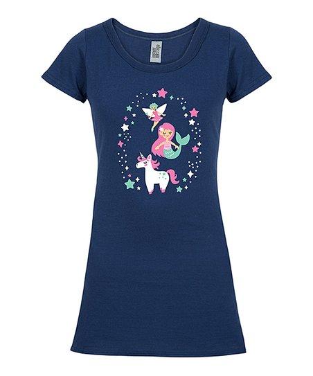 Instant Message Navy Fairy, Mermaid & Unicorn T