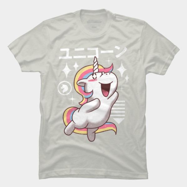 Kawaii Unicorn T Shirt By Vincenttrinidad Design By Humans