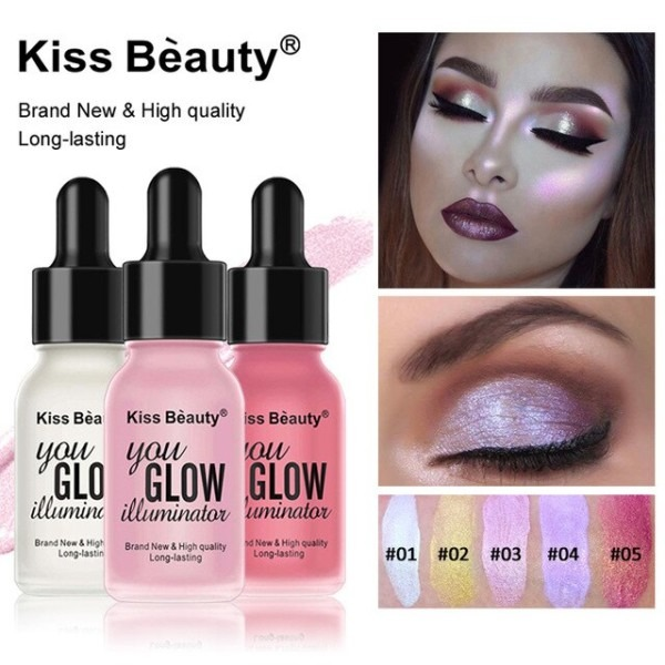 Kiss Beauty Liquid Highlighter Face Brighten Makeup Shimmer