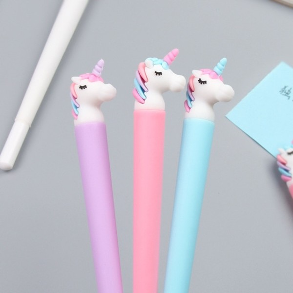 Korea Cute Pen Asleep Fluffy Unicorn Gel Pen Unicorn Stationery