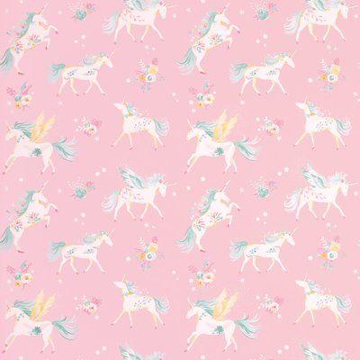 Laura Ashley Unicorns 32' L X 21  W Wallpaper Roll In 2019