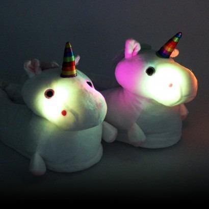 Light Up Unicorn Plush Slippers
