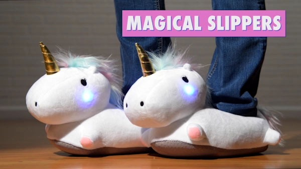 Light Up Unicorn Slippers  Cozy, Colorful Slippers With Led Lights