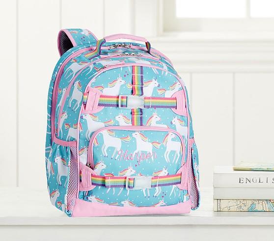 Mackenzie Aqua Unicorn Laptop Kids Backpack