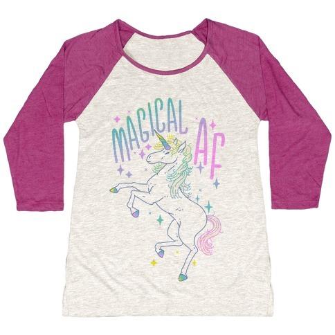 Magical Af Unicorn Baseball Tee