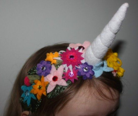 Make A Unicorn Horn Flower Crown
