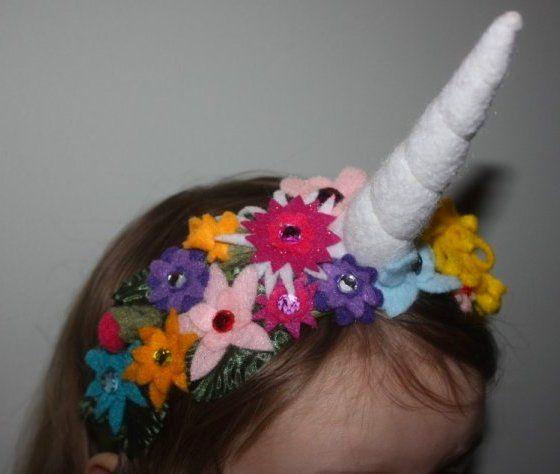 Make A Unicorn Horn Flower Crown