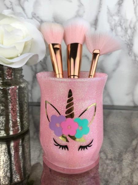 Makeup Brush Holder Unicorn Makeup Artist Gift Makeup
