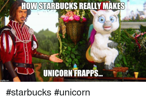Mgflipcom Howi Starbucks Really Makes Unicorn Frapps  Starbucks